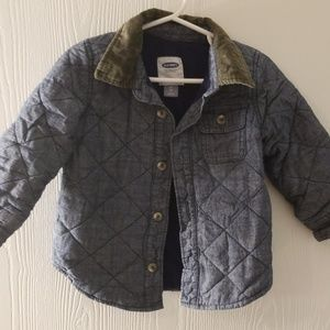 Quilted blue jacket size 2t